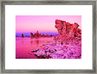 Mono Lake Dawn Framed Print by Dennis Cox