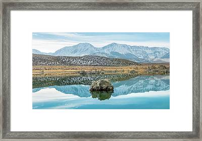 Mono Lake Reflections Framed Print