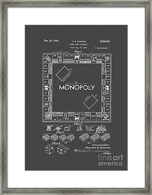 Monopoly Original Patent Art Drawing T-shirt Framed Print by Edward Fielding