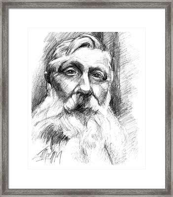 Monsieur Rodin Framed Print by James Simon