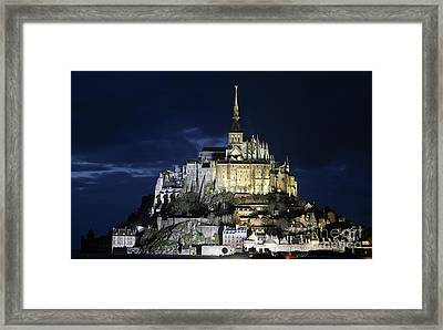 Mont St. Michel At Night Framed Print by Joshua Francia