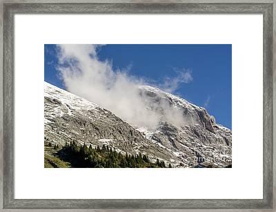 Montain Range Snow Covered.  Framed Print by Bernard Jaubert
