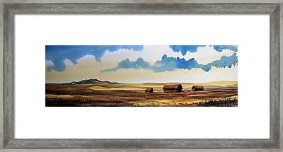 Montana Landscape Framed Print by Kevin Heaney