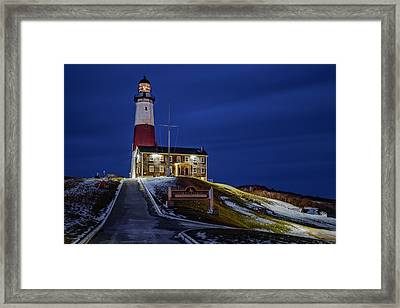 Framed Print featuring the photograph Montauk Point Lighthouse by Susan Candelario