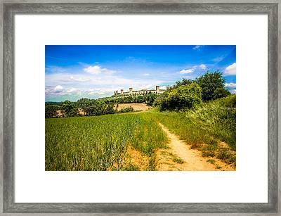 Monteriggioni Fields Framed Print