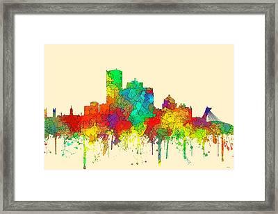 Montreal Que.skyline Framed Print by Marlene Watson