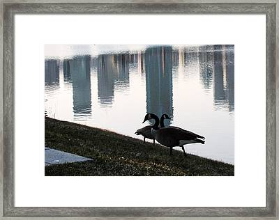 Montreal Reflections  Framed Print