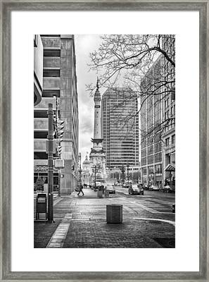 Framed Print featuring the photograph Monument Circle by Howard Salmon