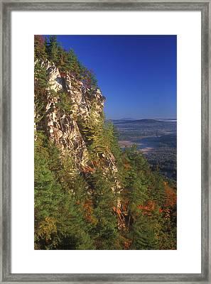 Monument Mountain Cliffs Framed Print by John Burk