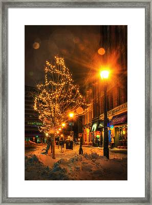 Monument Square - Portland Maine Framed Print by Joann Vitali