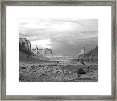 Monument Valley Afternoon Framed Print by Troy Montemayor