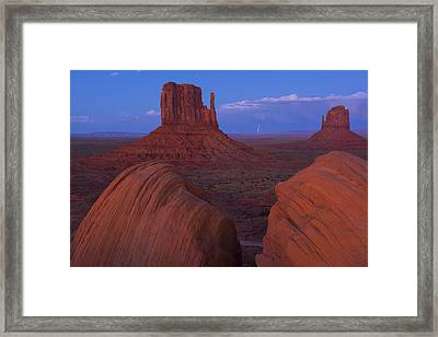 Monument Valley Framed Print by Christian Heeb