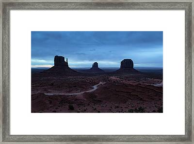 Framed Print featuring the photograph Monument Valley by Stuart Gordon