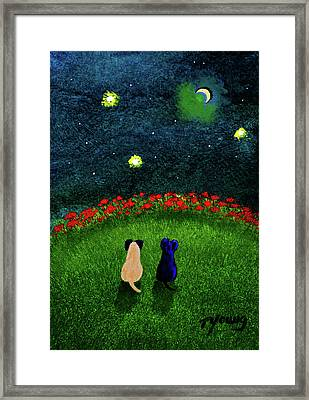 Moon Gazer Framed Print by Todd Young