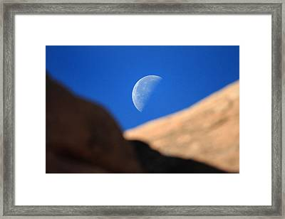 Moon In Arches National Park Framed Print by Pierre Leclerc Photography