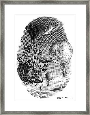 Moon Observations, Conceptual Artwork Framed Print by Bill Sanderson