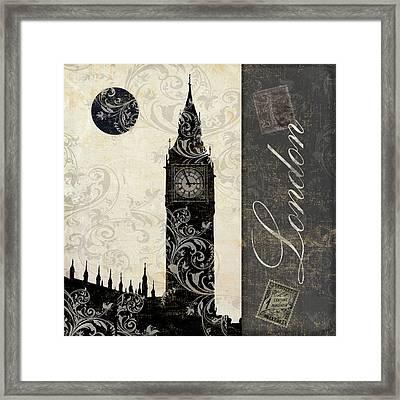 Moon Over London Framed Print
