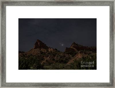 Moonlit Canyon Framed Print by Melany Sarafis