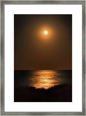Moonrise Framed Print by John M Bailey