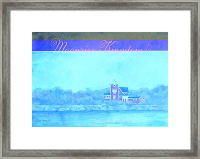 Moonrise Kingdom Poster From Watercolor Framed Print