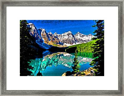 Moraine Lake Framed Print by Dennis Cox WorldViews