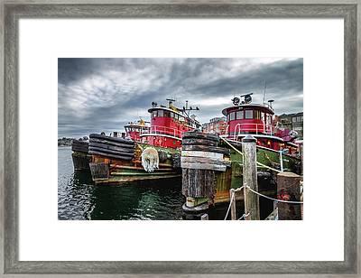 Moran Towing Tugboats Framed Print