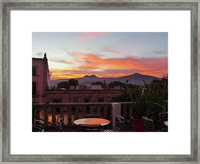 Morelia Sunset Framed Print