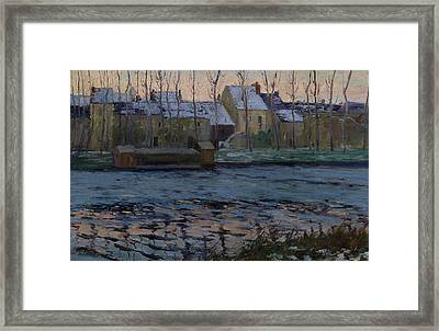Moret, Winter Framed Print by Maurice Cullen