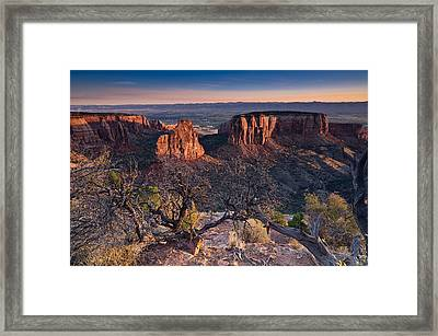 Morning At Colorado National Monument Framed Print