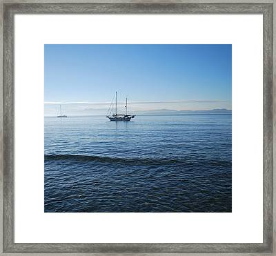Morning Clouds Framed Print by George Katechis