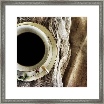 Framed Print featuring the photograph Morning Coffee by Bonnie Bruno