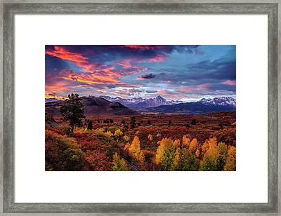 Morning Drama In The Colorado Rockies Framed Print by Andrew Soundarajan