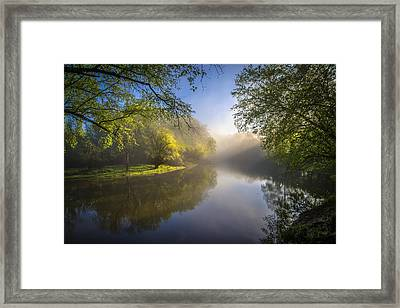 Morning Glow Framed Print by Debra and Dave Vanderlaan