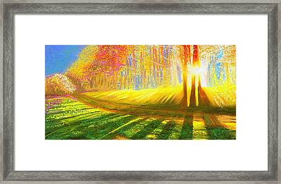 Framed Print featuring the painting Morning by Hidden Mountain