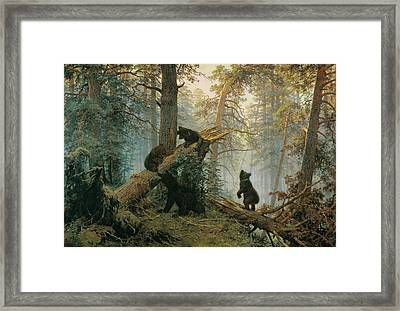 Morning In A Pine Forest Framed Print by Ivan Shishkin