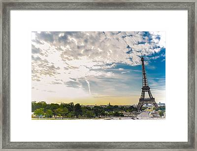 Morning In Front Of Old Lady Framed Print