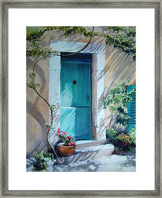 Morning Light In Valbonne Framed Print by Jeanne Rosier Smith