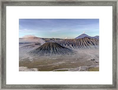 morning light Mount Bromo - Java Framed Print