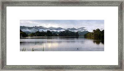 Morning Mist Framed Print by Odille Esmonde-Morgan