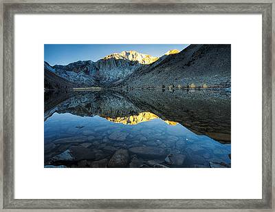 Morning Mountain Reflections Framed Print by Andrew Soundarajan