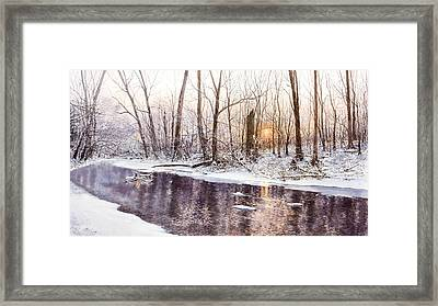 Morning On Monocacy Framed Print by Steven J White PWS