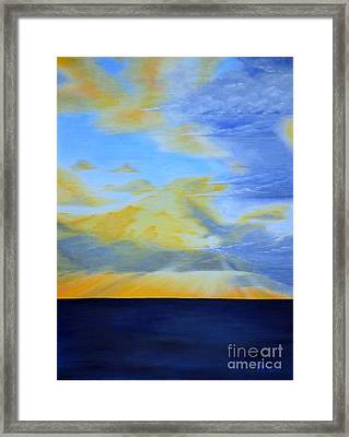 Morning Storm Front Framed Print by Mary Deal