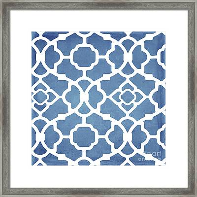 Moroccan Blues Framed Print