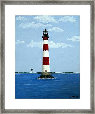 Morris Island Light Framed Print by Frederic Kohli