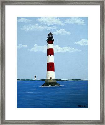 Morris Island Light Framed Print by Frederic Kohli