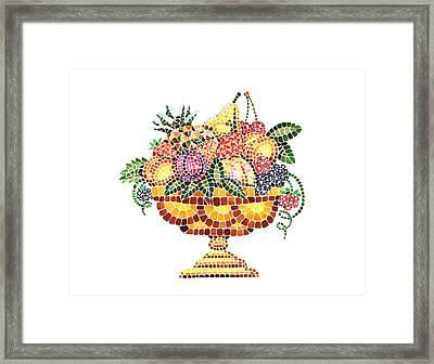 Mosaic Fruit Vase Framed Print by Irina Sztukowski