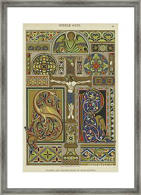 Mosaic Patterns From The Middle Ages Framed Print
