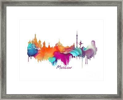 Moscow  Framed Print by Justyna JBJart