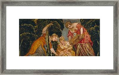 Moses Saved From The Waters Framed Print by Tintoretto