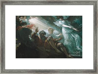 Moses Shown The Promised Land Framed Print